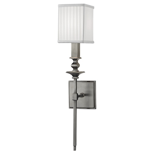 Hudson Valley Lighting Towson 1 Light Sconce Square Shade - Historic Nickel 8911-HN