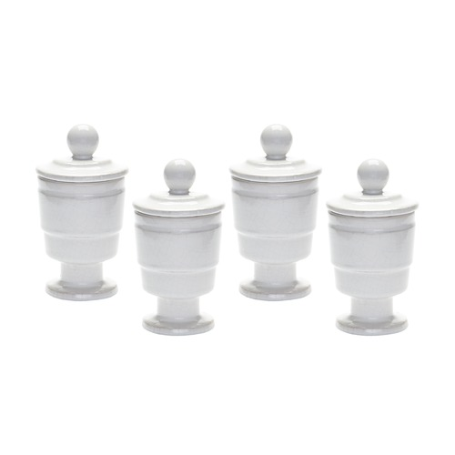 Dimond Home White Polar Filled Votive - Set Of 4 857118/S4