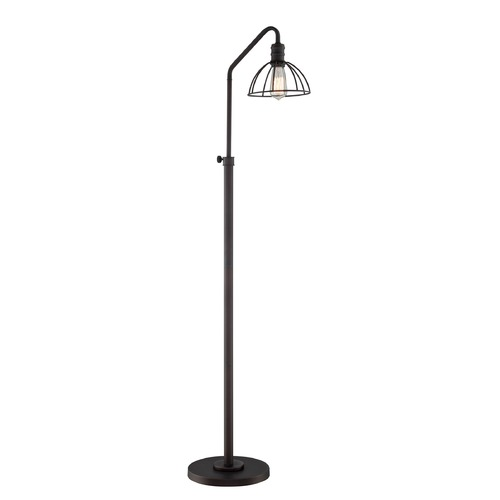 Lite Source Lighting Lite Source Gaius Burnished Bronze Floor Lamp with Bowl / Dome Shade LS-82835