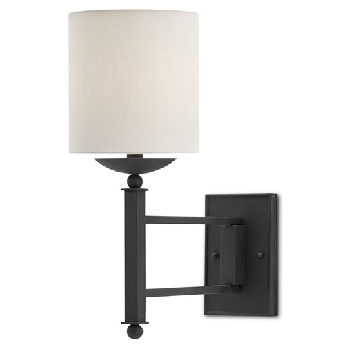 Currey and Company Lighting Currey and Company Latchett Black Bronze Swing Arm Lamp 5000-0009