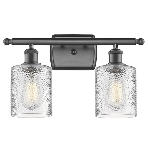 Innovations Lighting Innovations Lighting Cobbleskill Oil Rubbed Bronze Bathroom Light 516-2W-OB-G112