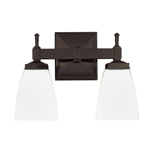 Hudson Valley Lighting Modern Bathroom Light with White Glass in Old Bronze Finish 652-OB