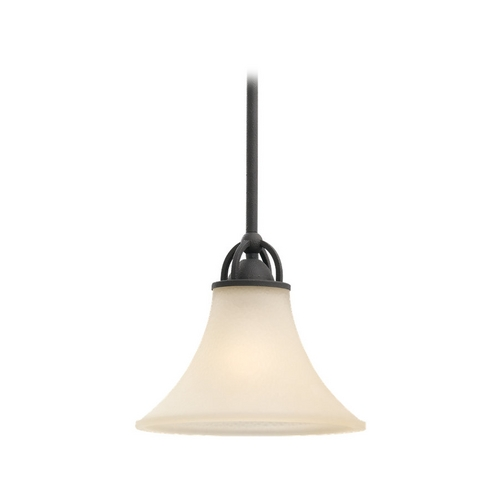 Sea Gull Lighting Mini-Pendant Light with Beige / Cream Glass 61375-839