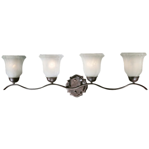 Minka Lavery Four-Light Bathroom Wall Light 6644A-156-PL
