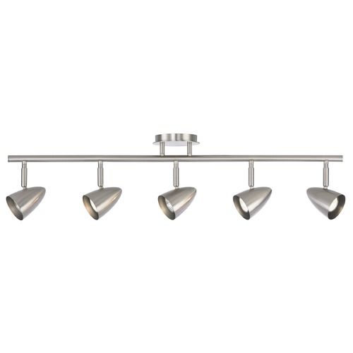 Design Classics Lighting Semi-Flush Adjustable 5-Light Directional Spot Light - Satin Nickel 1925-09