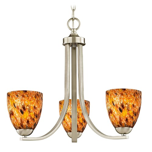 Design Classics Lighting Design Classics Dalton Fuse Satin Nickel Mini-Chandelier 5843-09 GL1005MB