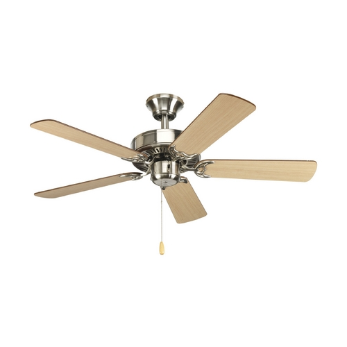 Progress Lighting Progress Ceiling Fan Without Light in Brushed Nickel Finish P2500-09