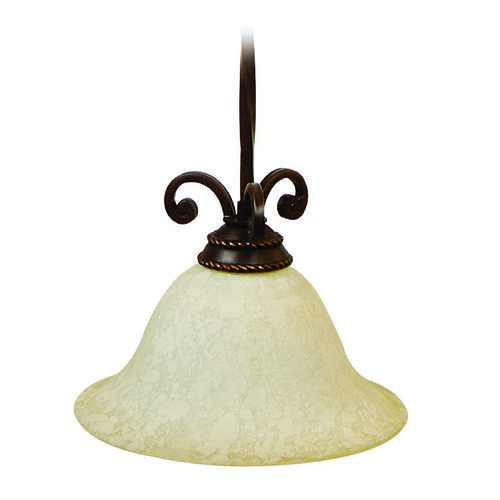 Craftmade Lighting Craftmade Riata Aged Bronze Textured Pendant Light with Bell Shade 8112AG1
