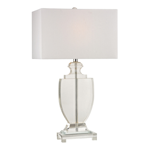 Dimond Lighting LED Table Lamp with White Shades in Clear Finish D2483-LED
