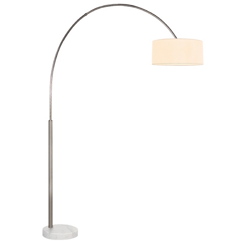 Sonneman Lighting Sonneman Lighting Arc Satin Nickel Arc Lamp with Drum Shade 4097.13W