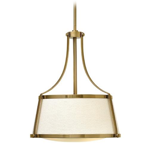 Hinkley Lighting Hinkley Lighting Charlotte Brushed Caramel Pendant Light with Conical Shade 3523BC