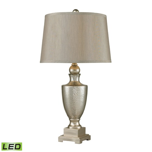 Dimond Lighting Dimond Lighting Antique Mercury, Silver LED Table Lamp with Empire Shade 113-1140-LED