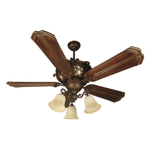 Craftmade Lighting Craftmade Lighting Toscana Peruvian Bronze Ceiling Fan with Light K10767