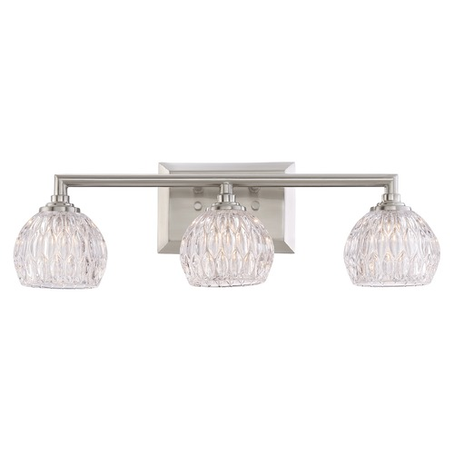 Quoizel Lighting Quoizel Lighting Platinum Collection Serena Brushed Nickel Bathroom Light PCSA8603BNLED
