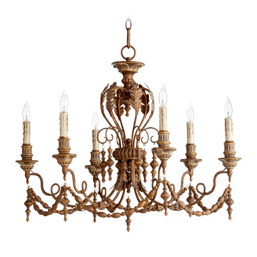 Quorum Lighting Quorum Lighting Salento Vintage Copper Chandelier 6236-6-39