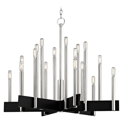 Hudson Valley Lighting Industrial Chandelier Polished Nickel 18-Lt by Hudson Valley 8834-PN