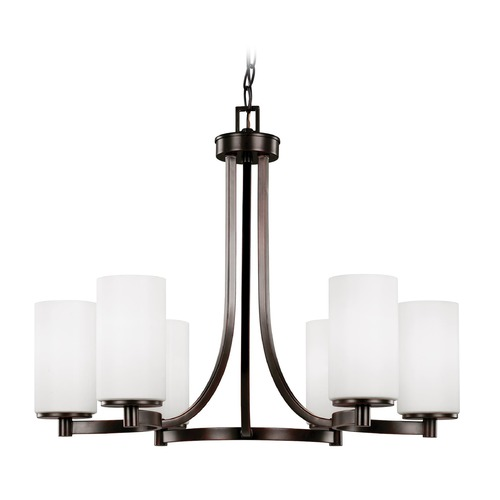 Sea Gull Lighting Sea Gull Lighting Hettinger Burnt Sienna Chandelier 3139106-710