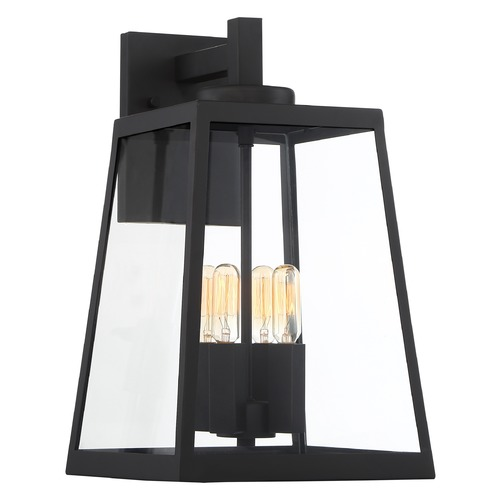 Nuvo Lighting Satco Lighting Halifax Matte Black Outdoor Wall Light 60/6583