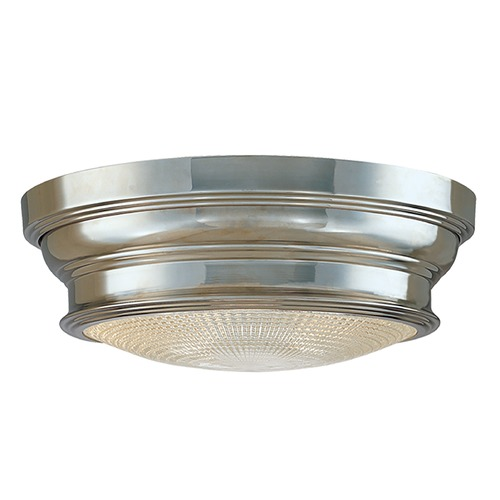 Hudson Valley Lighting Flushmount Light with Clear Glass in Polished Nickel Finish 7509-PN
