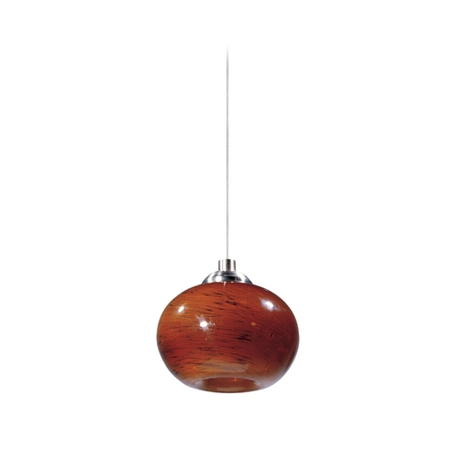 ET2 Lighting Modern Low Voltage Mini-Pendant Light with Amber Glass E94535-106SN