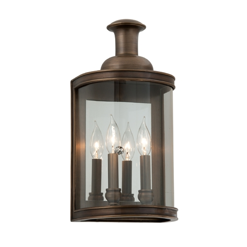Troy Lighting Outdoor Wall Light with Clear Glass in English Bronze Finish B3192