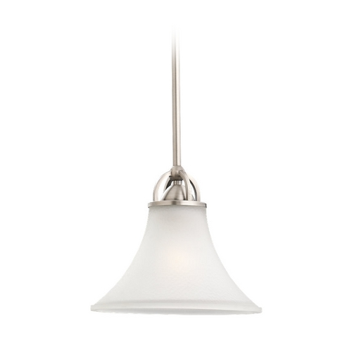 Sea Gull Lighting Mini-Pendant Light with White Glass 61375-965