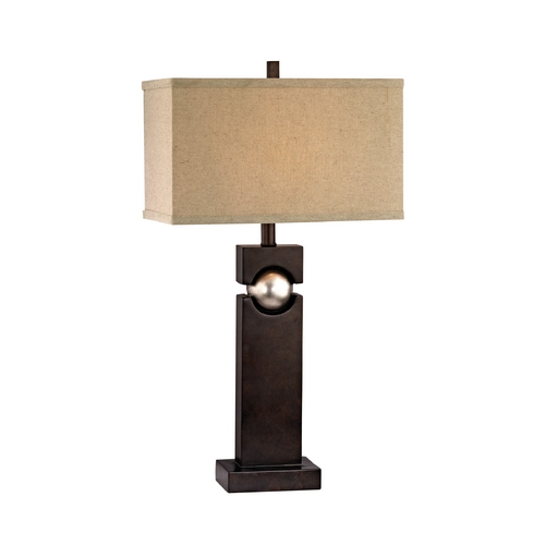 Dolan Designs Lighting Modern Table Lamp with Beige / Cream Shade in Western Bronze Finish 15041-127
