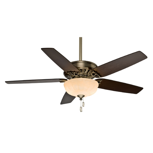 Casablanca Fan Co Casablanca Fan Concentra Gallery Antique Brass Ceiling Fan with Light 54025