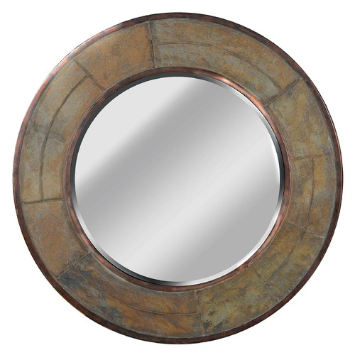 Kenroy Home Lighting Keene Round 31.88-Inch Mirror 60087