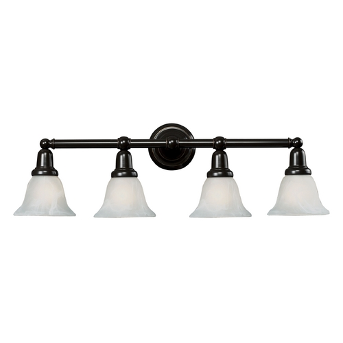 Elk Lighting Bathroom Light with White Glass in Oil Rubbed Bronze Finish 84023/4