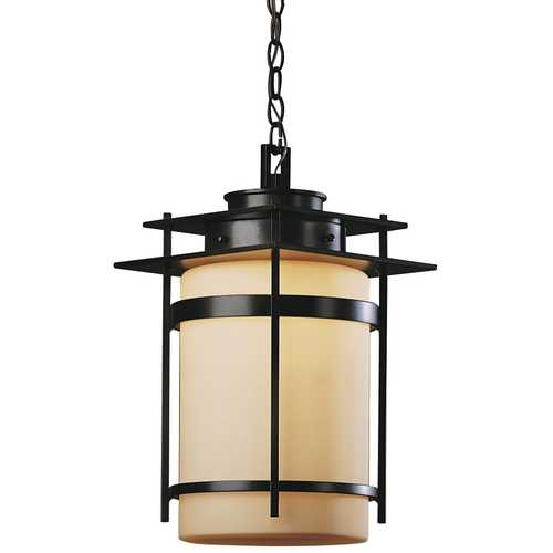 Hubbardton Forge Lighting Hanging Outdoor Ceiling Light with Stone Glass - 18-1/2-Inches Tall  365893-15-H147