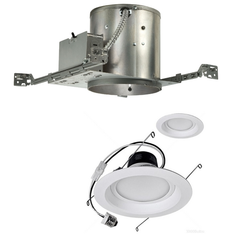 Juno Lighting Group 12-Watt Dimmable LED 6-Inch Recessed Lighting Kit for New Construction IC22/12W LED TRIM KIT