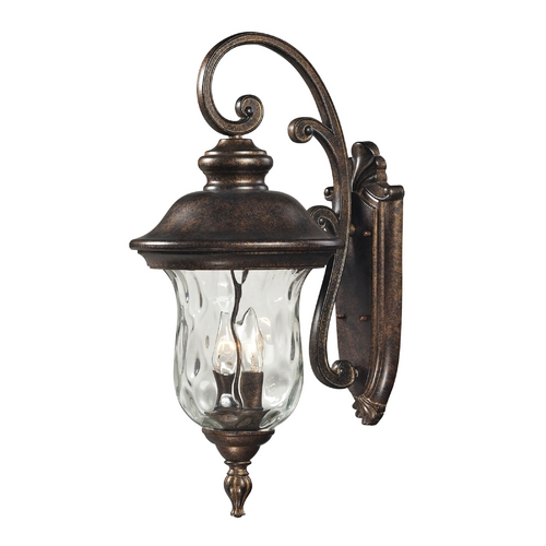 Elk Lighting Outdoor Wall Light with Clear Glass in Regal Bronze Finish 45021/2