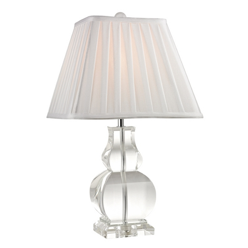 Dimond Lighting Table Lamp with White Shades in Clear Finish D2487