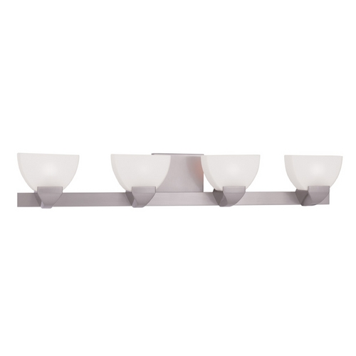 Livex Lighting Livex Lighting Gemini Brushed Nickel Bathroom Light 1364-91