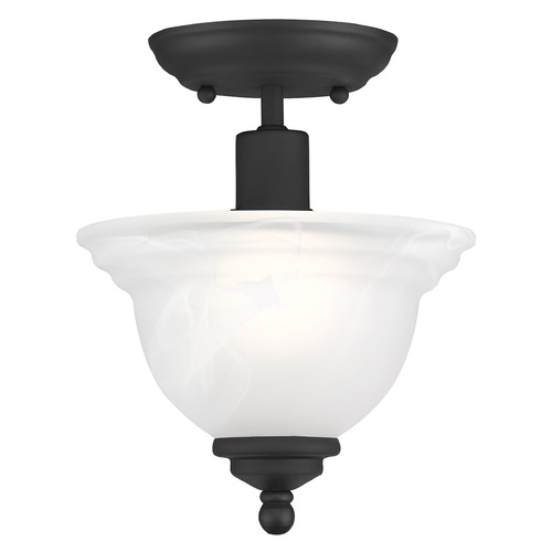 Livex Lighting Livex Lighting North Port Black Semi-Flushmount Light 4250-04