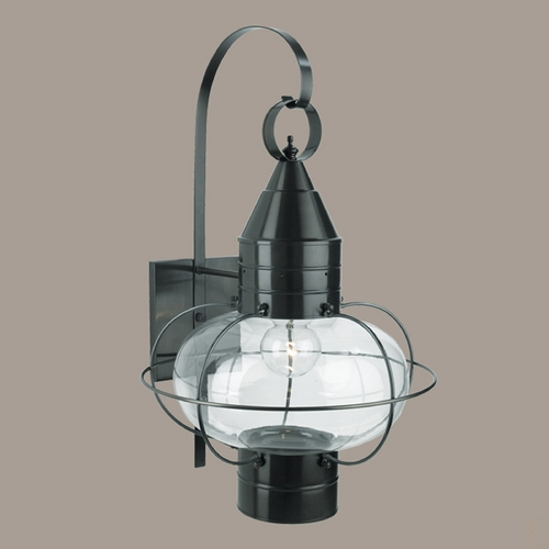 Norwell Lighting Norwell Lighting Classic Onion Gun Metal Outdoor Wall Light 1509-GM-CL