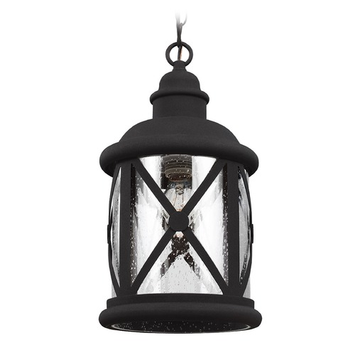 Sea Gull Lighting Sea Gull Lighting Lakeview Black Outdoor Hanging Light 6221401-12