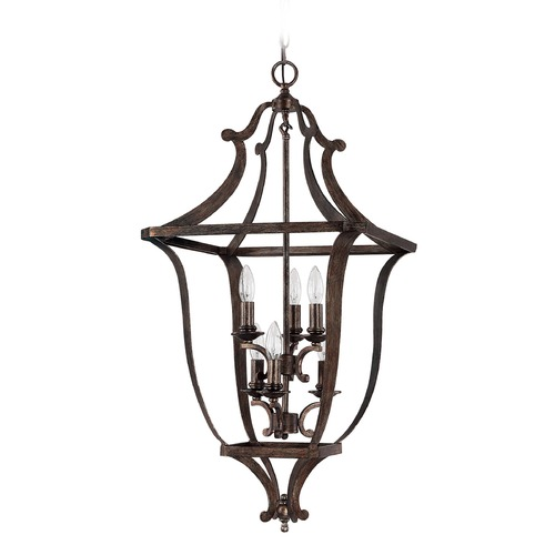 Capital Lighting Capital Lighting Corday Rustic Pendant Light 9182RT