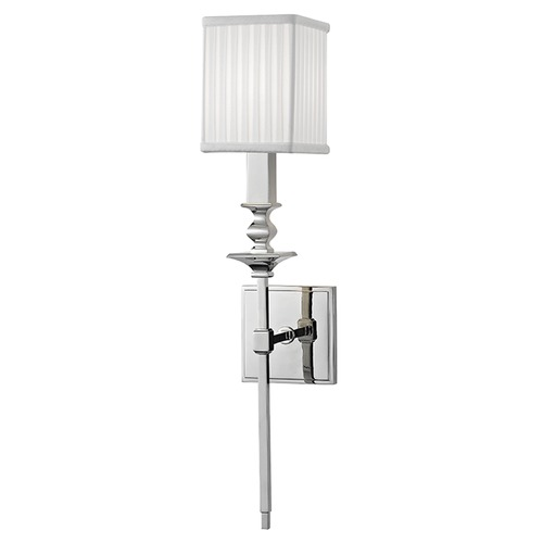 Hudson Valley Lighting Towson 1 Light Sconce Square Shade - Polished Nickel 8911-PN