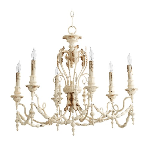 Quorum Lighting Quorum Lighting Salento Persian White Chandelier 6236-6-70