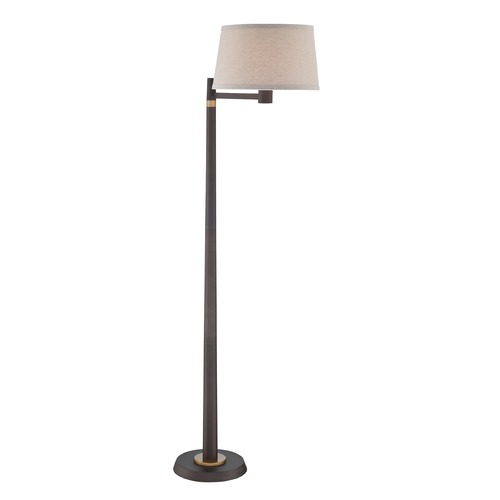 Lite Source Lighting Lite Source Tarika Burnished Bronze Swing Arm Lamp with Drum Shade LS-82764