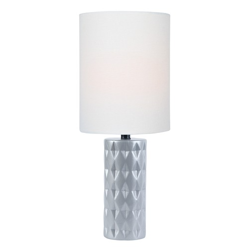Lite Source Lighting Lite Source Delta Silver Table Lamp with Cylindrical Shade LS-23202SILV
