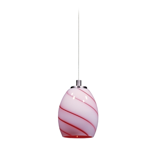 ET2 Lighting Modern Low Voltage Mini-Pendant Light with Multi-Color Glass E94536-107SN