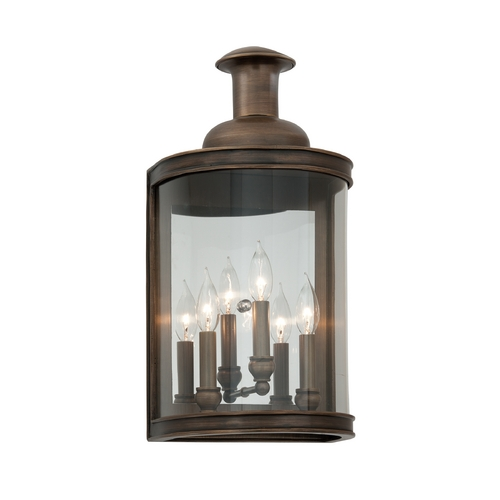 Troy Lighting Outdoor Wall Light with Clear Glass in English Bronze Finish B3193