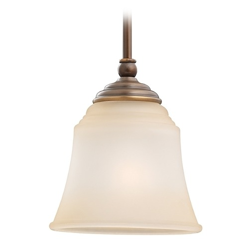 Sea Gull Lighting Mini-Pendant Light with Beige / Cream Glass 61380-829