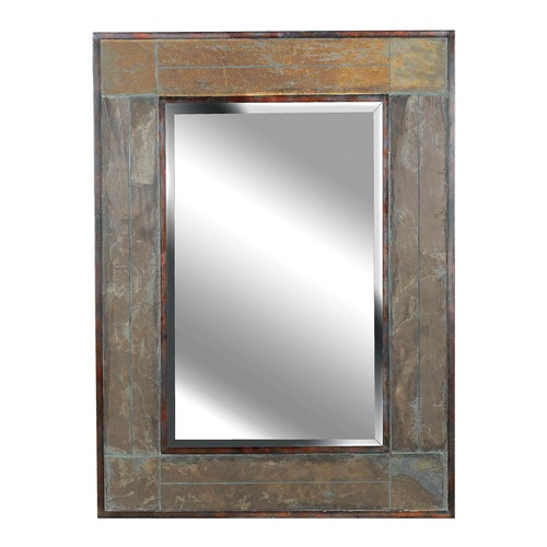 Kenroy Home Lighting White River Rectangle 28-Inch Mirror 60089