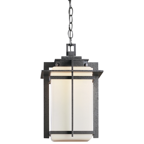 Hubbardton Forge Lighting Outdoor Pendant Light in Iron Finish - 16-1/2-Inches Tall 366007-SKT-20-GG0112