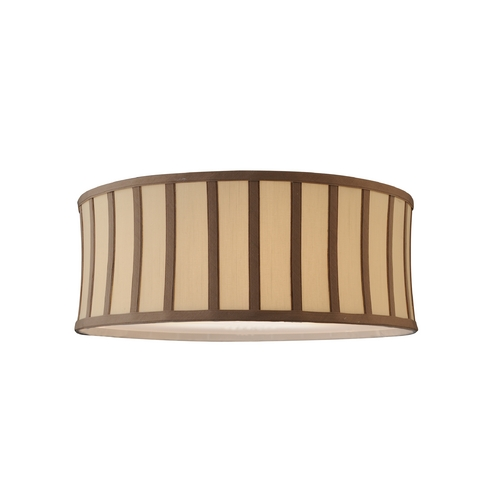 Design Classics Lighting Cream with Taupe Striped Drum Shade with Spider Assembly SH7488DIF