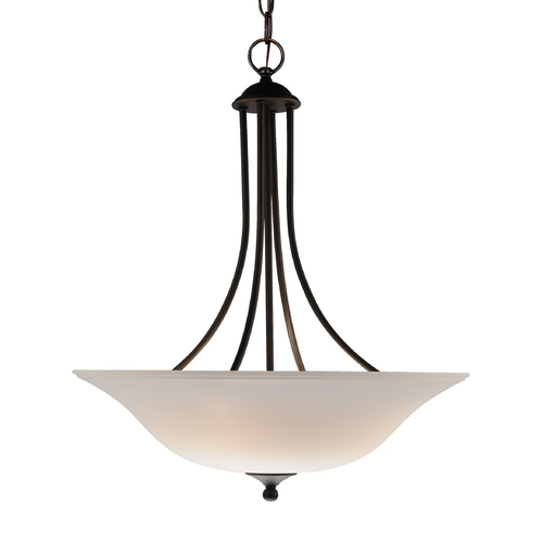 Design Classics Lighting 3-Light Bronze Bowl Pendant 7003-78